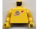 Part No: 973p90c04  Name: Torso Space Classic Moon Pattern / Yellow Arms / Yellow Hands