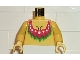 Part No: 973pb0064c01  Name: Torso Pirate Islanders with Red Female Neckline Pattern / Yellow Arms / Yellow Hands