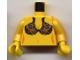 Part No: 973pb0087c01  Name: Torso SW Princess Leia Slave Pattern / Yellow Arms / Yellow Hands
