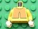 Part No: 973pb0308c01  Name: Torso Avatar Orange Overshirt Pattern / Yellow Arms / Light Flesh Hands