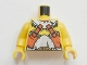 Part No: 973pb0378c01  Name: Torso Viking Barbarian Armor Pattern / Yellow Arms / Yellow Hands