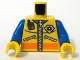 Part No: 973pb0488c01  Name: Torso Coast Guard City Logo, Zippers and Radio Pattern / Blue Arms / Yellow Hands