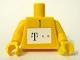 Part No: 973pb0501c01  Name: Torso German Telekom Green Pattern (Stickers) / Yellow Arms / Yellow Hands