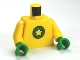 Part No: 973pb1020c01  Name: Torso SpongeBob with Yellow Star on Green Circle Pattern / Yellow Arms / Green Hands