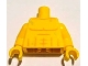 Part No: 973pb1161c01  Name: Torso Bare Chest with Muscles Outline and Drops of Sweat Pattern / Yellow Arms / Yellow Hands