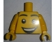 Part No: 973pb2320c01  Name: Torso Large Smiley Face Open Mouth Grin Pattern / Yellow Arms / Yellow Hands