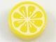 Part No: 98138pb080  Name: Tile, Round 1 x 1 with Lemon Slice Pattern