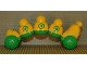 Part No: caterpillarc02  Name: Primo Vehicle Caterpillar with Green Wheels and Circles Pattern
