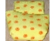 Part No: sleepbag12  Name: Duplo Cloth Sleeping Bag with Orange Flowers Pattern
