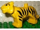 Part No: tigerc01pb01  Name: Duplo Tiger Adult First Version with Movable Head