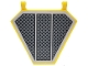 Part No: x1435pb025  Name: Flag 5 x 6 Hexagonal with SW Black Grille, Diagonal Cross Hatching Pattern (Sticker) - Set 75038