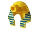 Part No: x177px1  Name: Minifigure, Headgear Headdress Mummy (Type 1) with Blue and Gold Stripes Pattern