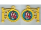 Part No: x222pb05  Name: Fabuland Sign on Pole with Bus Pattern (Stickers) - Set 3719