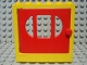 Part No: x610c01  Name: Fabuland Door Frame 2 x 6 x 5 with Red Door