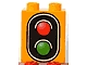 Part No: 4066pb276  Name: Duplo, Brick 1 x 2 x 2 with Traffic Signal Double Pattern
