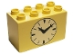 Part No: 31111pb011  Name: Duplo, Brick 2 x 4 x 2 with Clock Pattern