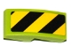 Part No: 11477pb041L  Name: Slope, Curved 2 x 1 No Studs with Black and Yellow Danger Stripes Pattern Model Left Side (Sticker) - Set 60121