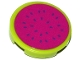 Part No: 14769pb132  Name: Tile, Round 2 x 2 with Bottom Stud Holder with Watermelon Slice Pattern (Sticker) - Set 41118
