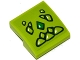 Part No: 15068pb067  Name: Slope, Curved 2 x 2 No Studs with Lime and Green Geometric Dragon Scales Pattern (Sticker) - Set 41176
