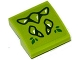 Part No: 15068pb068  Name: Slope, Curved 2 x 2 No Studs with Lime Geometric Dragon Scales Pattern (Sticker) - Set 41176