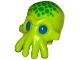 Part No: 18828pb01  Name: Minifig, Head Modified Alien with 4 Mouth Tentacles and Blue Eyes and Green Spots Pattern