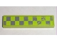 Part No: 2431pb136L  Name: Tile 1 x 4 with Worn Lime Green Checkered Pattern Model Left (Sticker) - Set 8211