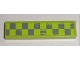 Part No: 2431pb136R  Name: Tile 1 x 4 with Worn Lime Green Checkered Pattern Model Right (Sticker) - Set 8211