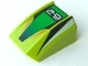 Part No: 30602pb003  Name: Slope, Curved 2 x 2 Lip, No Studs with '29', Green/Black Stripes Pattern