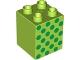 Part No: 31110pb071  Name: Duplo, Brick 2 x 2 x 2 with Green Dots Pattern