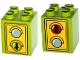 Part No: 31110pb104  Name: Duplo, Brick 2 x 2 x 2 with Traffic Light Duplo Minifigure Green Walk / Red Don't Walk Pattern