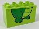 Part No: 31111pb049  Name: Duplo, Brick 2 x 4 x 2 with Alligator/Crocodile Feet Pattern