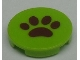 Part No: 4150pb084  Name: Tile, Round 2 x 2 with Brown Paw Pattern