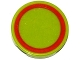 Part No: 4150pb162  Name: Tile, Round 2 x 2 with Red Ring Thin Pattern (Sticker) - Set 76021