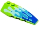 Part No: 41747pb030  Name: Wedge 6 x 2 Right with Blue Water Splash Pattern