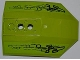 Part No: 42021pb03  Name: Cockpit 8 x 6 x 2 Curved with Black Lines on Lime Background Pattern (Stickers) - Set 8079