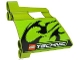 Part No: 44353pb12  Name: Technic, Panel Fairing #23 Large Short, Small Hole, Side B with Black Flames and Technic Logo Pattern (Sticker) - Set 8291
