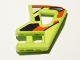 Part No: 45786pb03  Name: Technic, Panel RC Car Flexible Bumper Left with Red and Black Stripes on Lime Background Pattern (Stickers) - Set 8675
