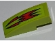Part No: 50950pb023  Name: Slope, Curved 3 x 1 No Studs with Red Fire Pattern (Sticker) - Set 8199