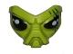 Part No: 95201pb01  Name: Face, Alien with Black Eyes Pattern (Alien Conquest Commander)