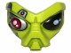 Part No: 95201pb02  Name: Face, Alien with Black Eye and Silver and Red Mechanical Eye Pattern
