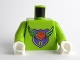 Part No: 973pb0909c01  Name: Torso MBA Level 1 Logo Pattern / Lime Arms / White Hands