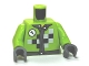 Part No: 973pb1384c01  Name: Torso Mechanic Race Jacket with Wrench and Black and White Checkered Pattern / Lime Arms / Dark Bluish Gray Hands