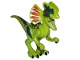 Part No: Dilo01  Name: Dino Dilophosaurus with Dark Green Back - Complete Assembly