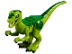 Part No: Raptor08  Name: Dinosaur, Raptor / Velociraptor with Green Back