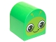 Part No: 3664pb25  Name: Duplo, Brick 2 x 2 x 2 Curved Top with Caterpillar / Snail Face Pattern