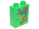 Part No: 4066pb032  Name: Duplo, Brick 1 x 2 x 2 with Colorful Bird Pattern