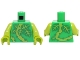 Part No: 973pb2103c01  Name: Torso Plant Vines with Thorns and Green and Lime Leaves Pattern / Lime Arms / Lime Hands