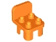 Part No: 12651  Name: Duplo Furniture Chair with 4 Studs and Rounded Back