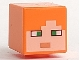 Part No: 19729pb009  Name: Minifigure, Head Modified Cube with Minecraft Alex Face Pattern