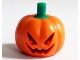 Part No: 20695pb01  Name: Minifig, Headgear Head Cover, Pumpkin Jack O' Lantern with Green Stem Pattern